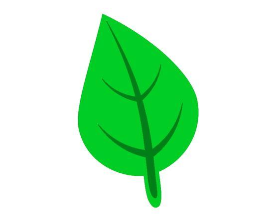Hoja de planta normal