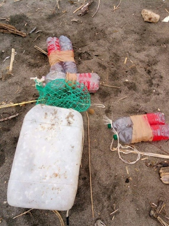desechos de los pescadores